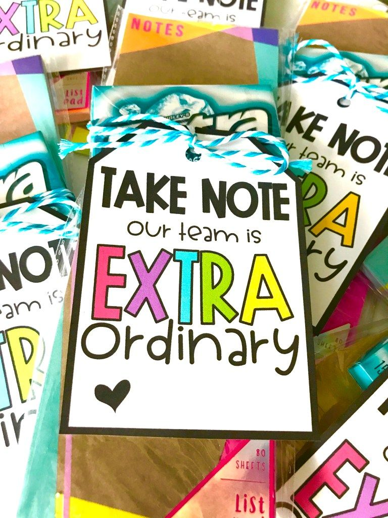 Extraordinary Gift Tag Freebie for Teachers, Coworkers and…