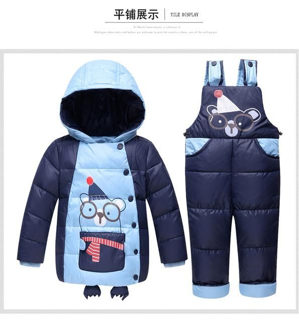 f82a499ab510 Baby boy clothing set Warm baby Girl Ski suits sets baby Boy s ...