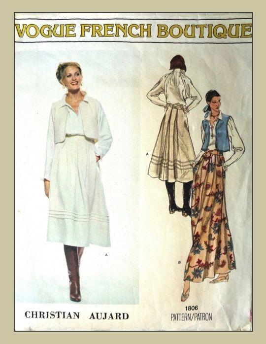 VOGUE French Boutique pattern 1806 Blouse / Vest / by pandora19 ...