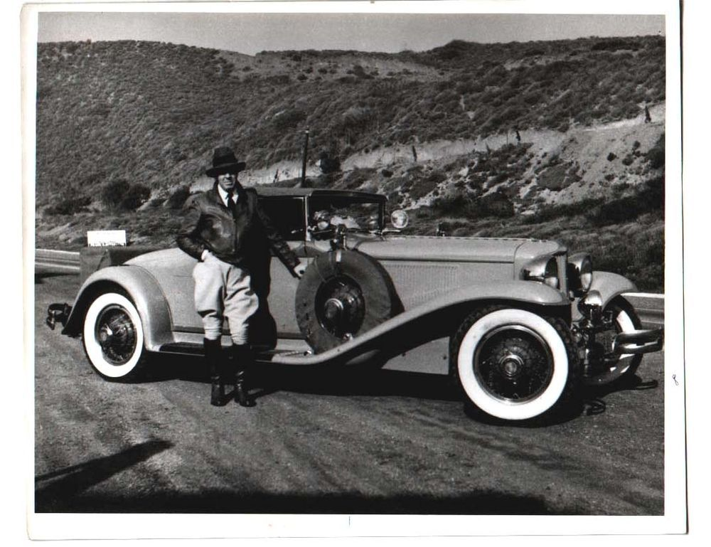 Details about 8 x 10 photo of EDGAR RICE BURROUGHS and his car ...