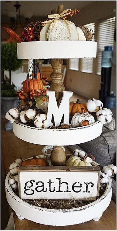 SHOW STOPPING TIERED TRAYS FOR YOUR FALL DECOR | LIFE ON SUMMERHILL