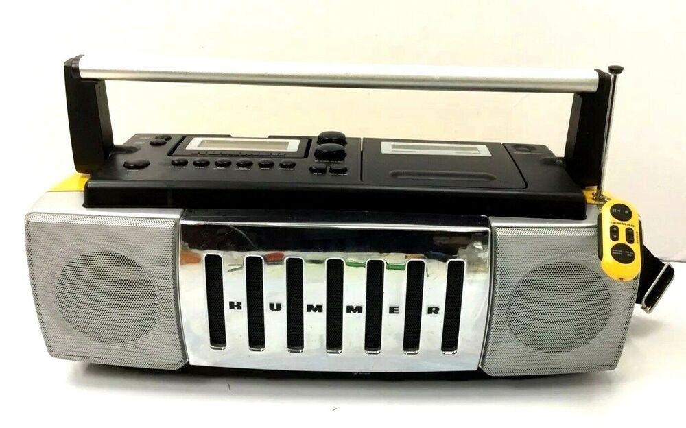 Rare Conair Hummer Music Stereo AM FM Radio CD Boombox
