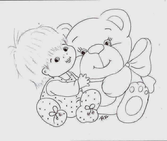 Pin Do A Mariana Matias Em Desenhos Para Pintar: Riscos Para Pintura Em Tecido Bebes