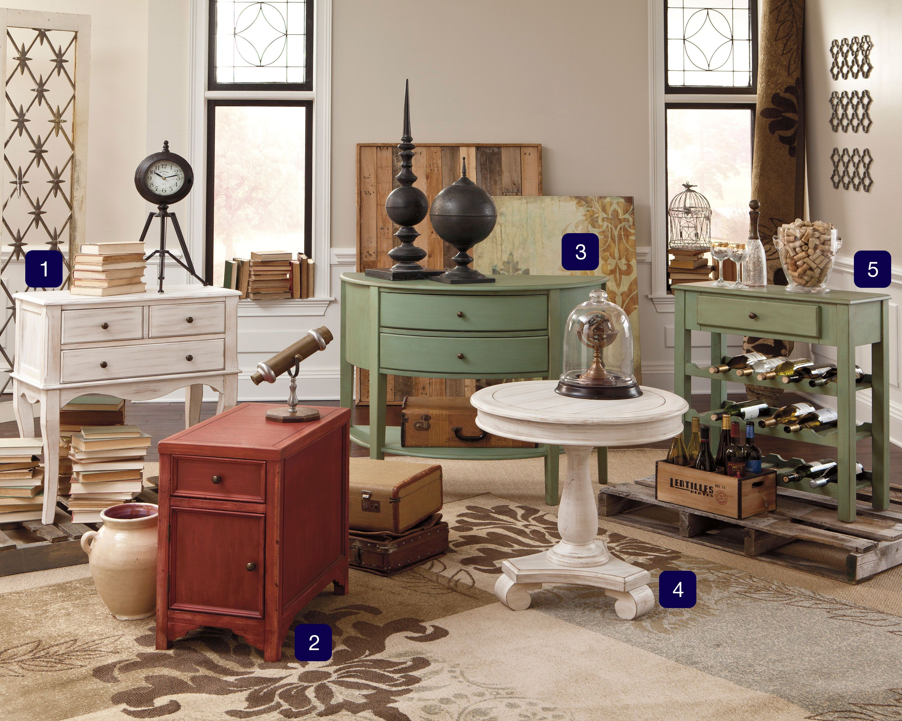 Introducing our new rustic painted storage cabinets and small