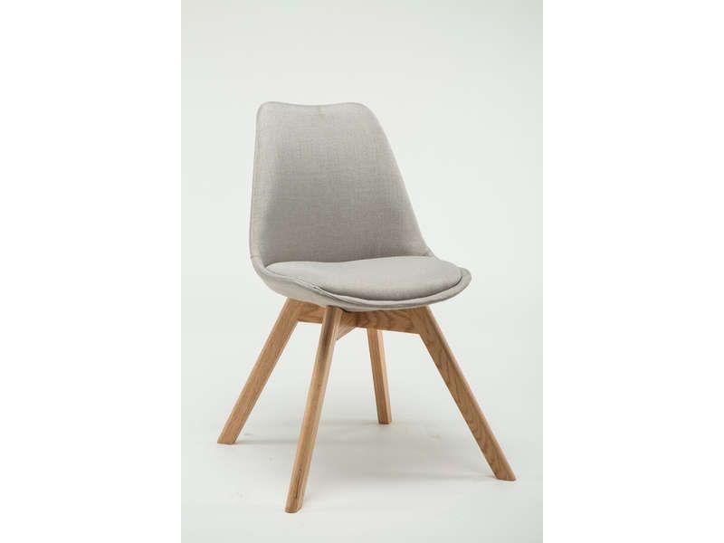 lot de 2 chaises yora coloris lin