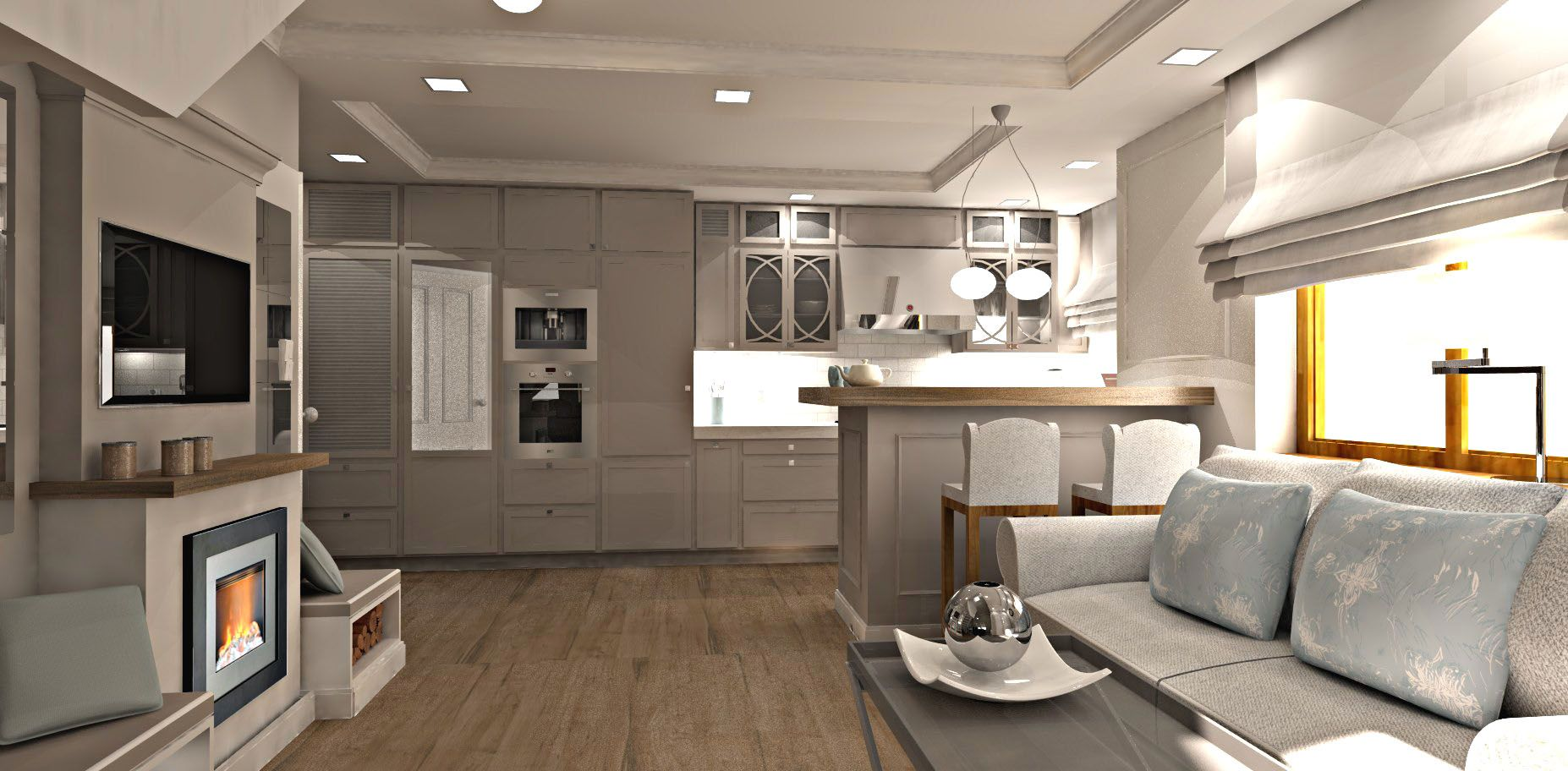 Waski Salon Z Aneksem Kuchennym Szukaj W Google Home Home Decor Decor