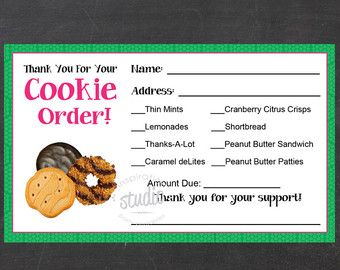 image about Girl Scout Cookie Thank You Note Printable named Female Scout Cookie Thank yourself Notes Woman by means of