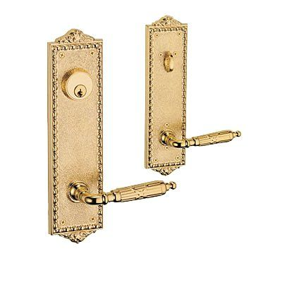 Give Your Front Door A Classic Feel With This Fusion Hardware Textured  Decorative Keyed Entry Plate Front Door Handle