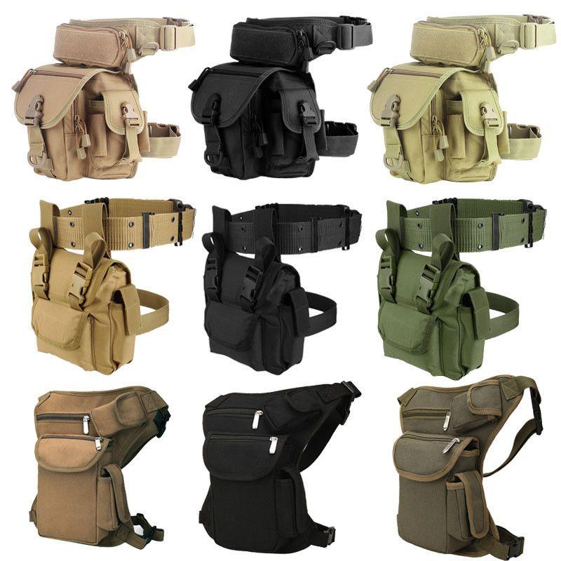 Waterproof Motorcycle Waist Fanny Pack Hip Rider Tactical Military Drop Leg Bag