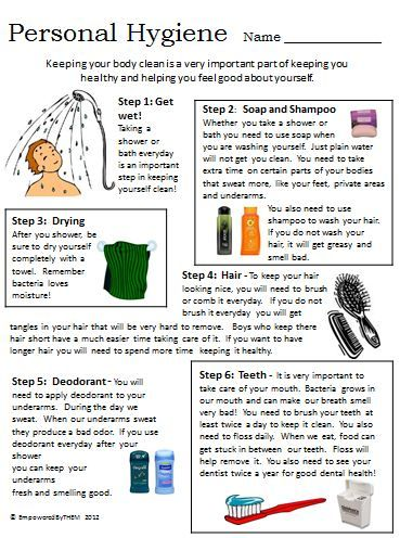 Printables Personal Hygiene Worksheets 1000 images about personal hygiene on pinterest cleanses soaps and aspergers children