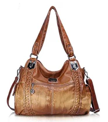 Angel Barcelo Roomy Fashion Hobo Womens Handbags Ladies Purse Satchel Shoulder Bags Tote Washed In 2020 Women Handbags Leather Hobo Purses