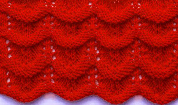 Wavy Knit Stitch Knitting Pinterest Stitch Knit Patterns And