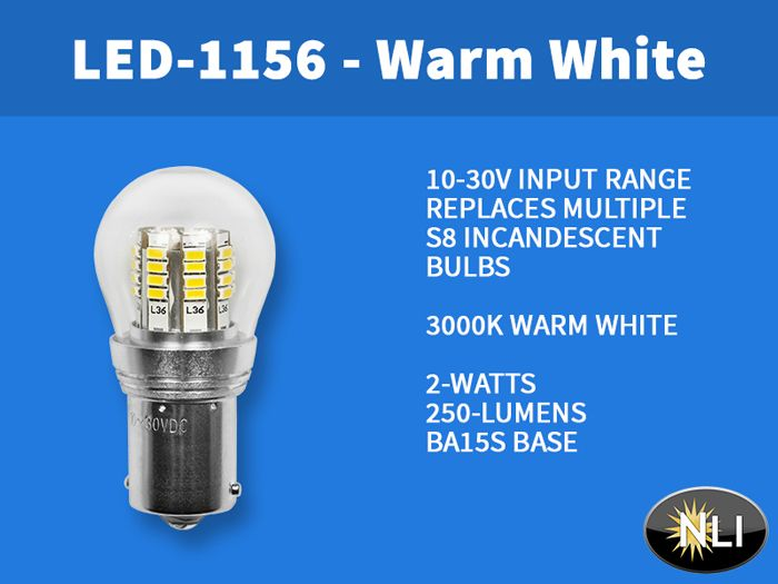 Newly Added To Nli S Inventory The Led 1156 Ww Rated At Over 25 000 Hours Equal Replacement For Multiple S8 Incandescent Bulbs I Bulb Led Incandescent Bulbs