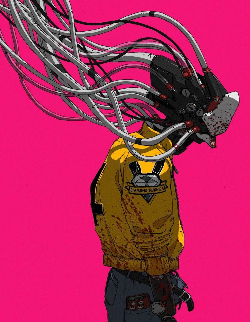 Cyberpunk art | joel | Pinterest | Ilustraciones, Dibujo y Robótica