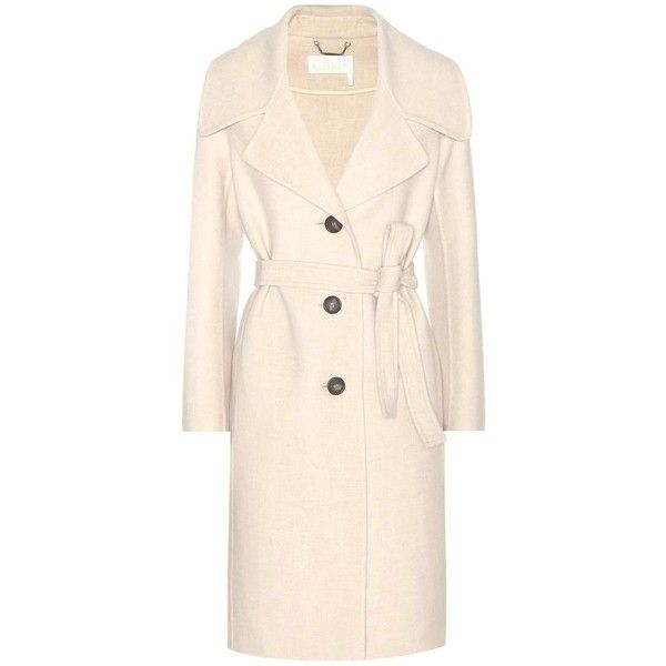 8c596884e6 Chloé Wool and Cashmere Coat ($6,190) ❤ liked on Polyvore featuring ...