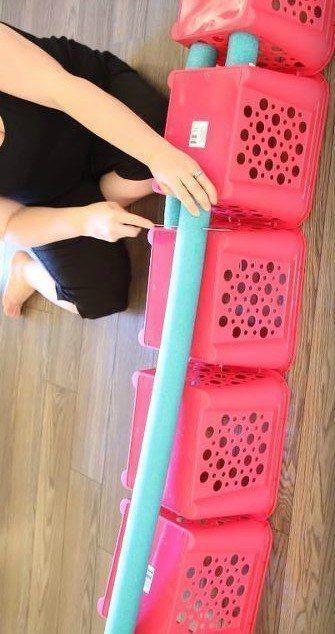 Pool Noodle Foot Stool