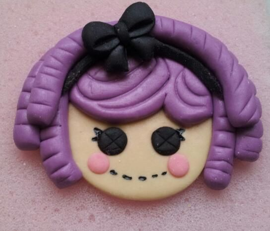 My 1st Lalaloopsy fondant topper with only just the black bow. Just practicing for a birthday celebrant this month. By: Sheila Marie Matienzo