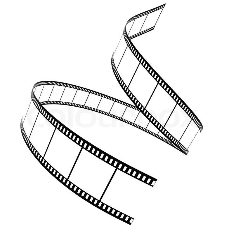 3d Film Strip Roll Isolated Over White Stock Photo Colourbox Camera Film Tattoo Film Strip Camera Clip Art