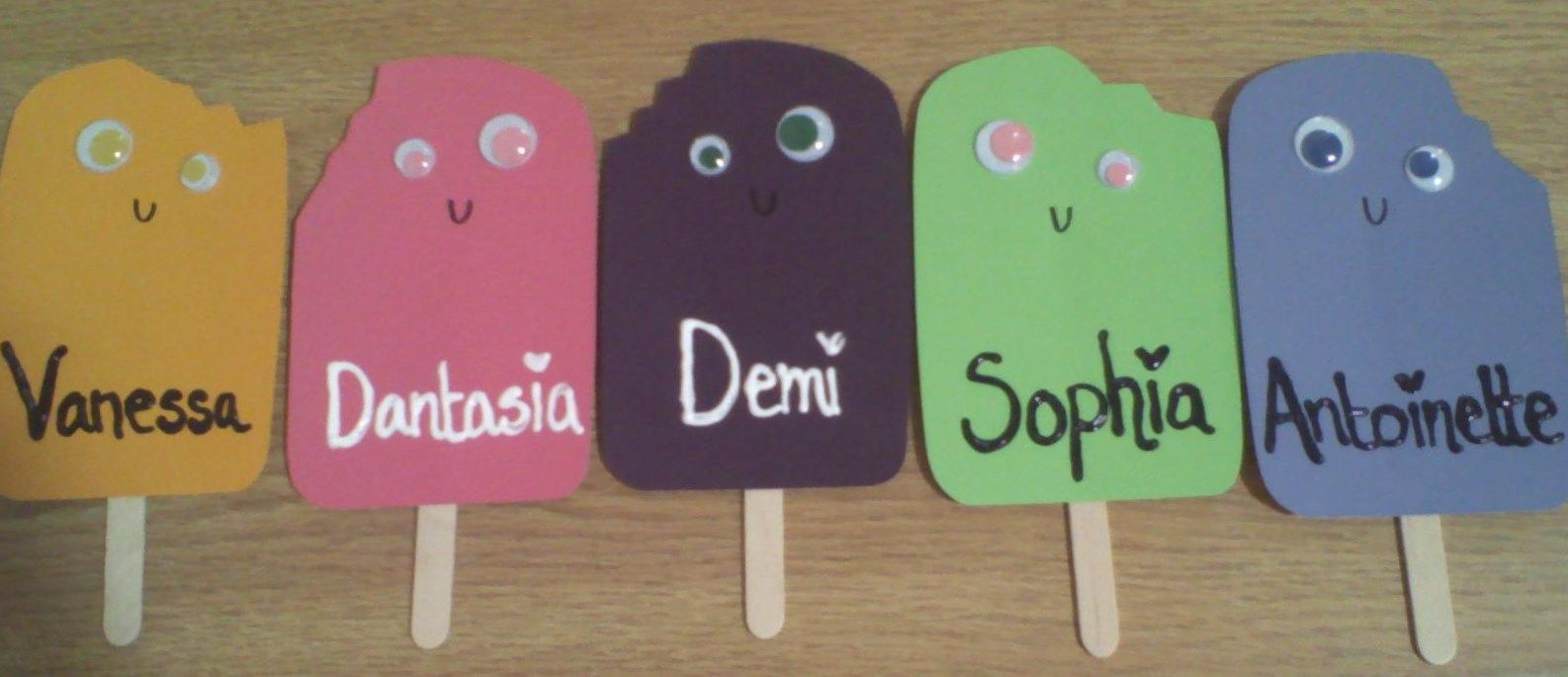 Popsicle Door Decs That I Just Made They Re Made With Paint Chips