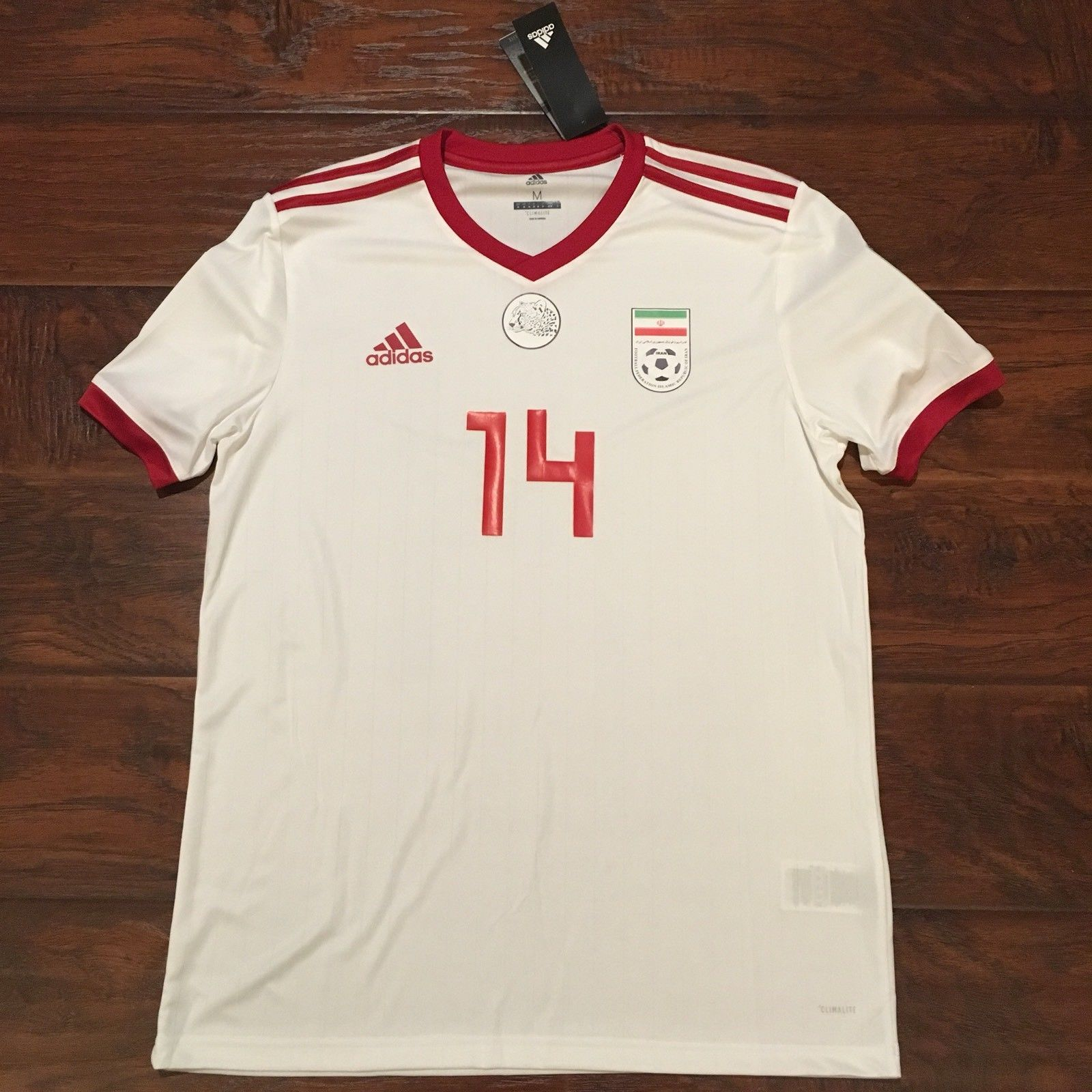 2018 Iran Home Jersey  14 Saman Ghoddos Medium Adidas World Cup Team Melli  NEW Discount Price 120.00 Free Shipping Buy it Now a1da2908b