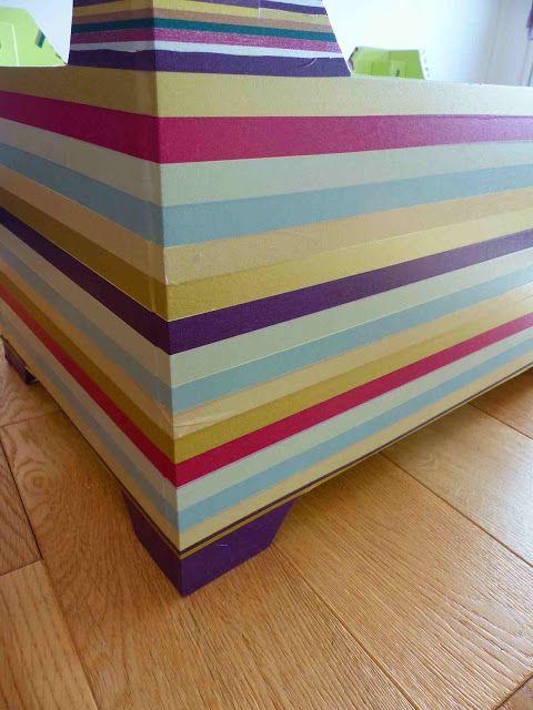 #DIY #maskingtape Relooking de petits meubles