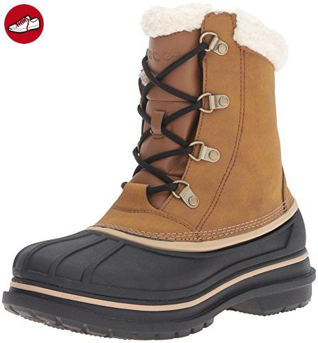 AllCast II Boot, Damen Schneestiefel, Braun (Wheat 209), 39/40 EU (7 Damen UK) Crocs