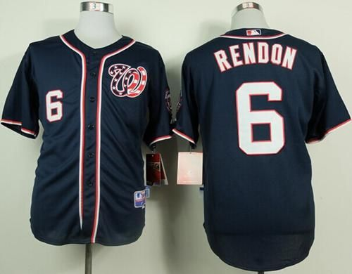 nationals 6 anthony rendon navy blue cool base stitched mlb jersey