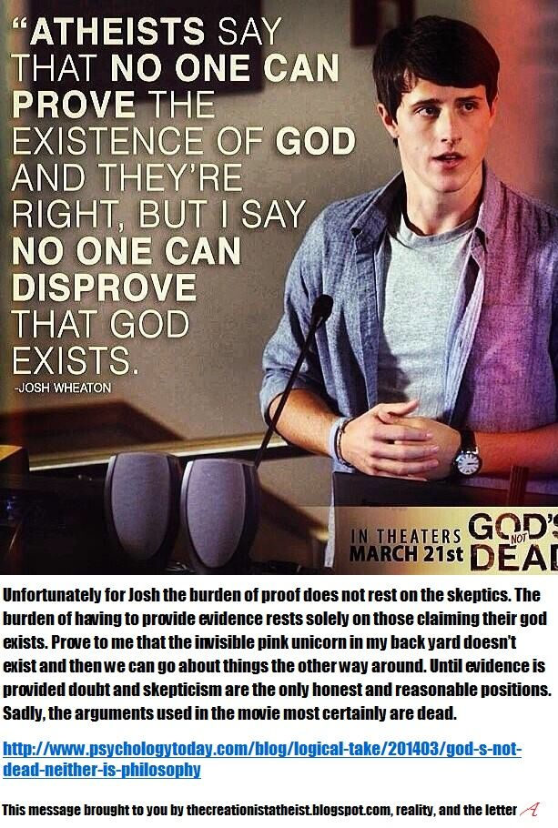 681aa80f88151efc64ad391b292cfc2d one logical fallacy in the film god's not dead is when josh wheaton