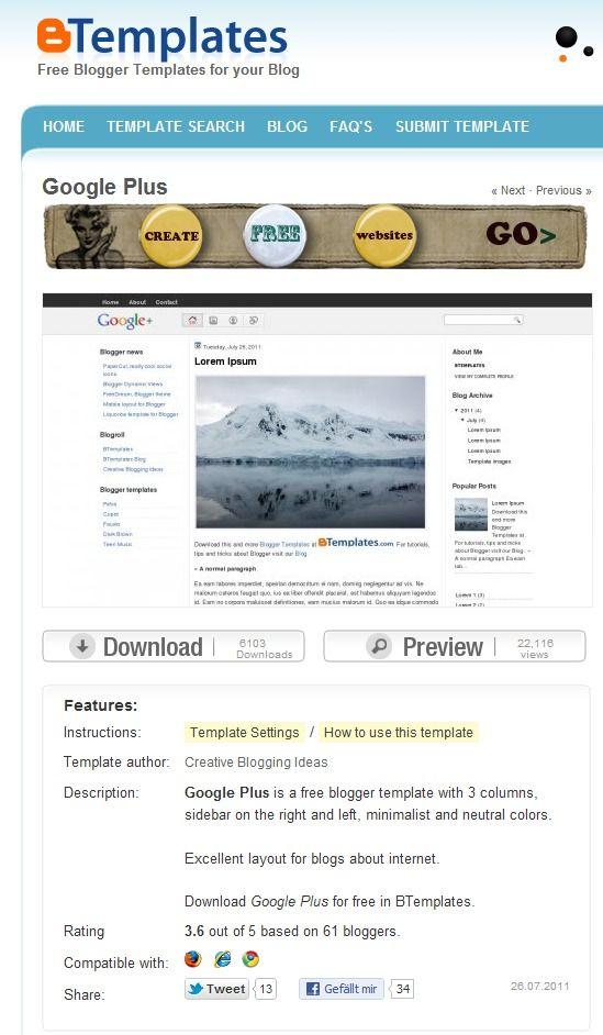 www.btemplates.com: A Collection of Google Blogger templates   Blogs ...