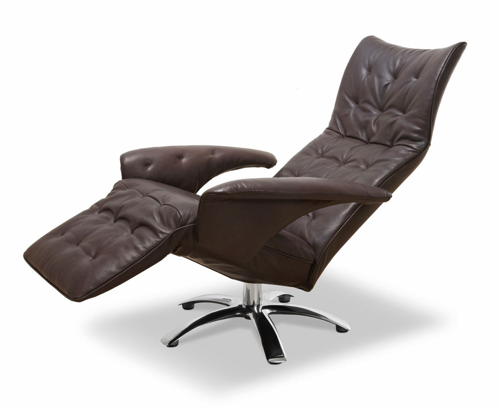 Furniture Modern Recliner Chair Design With Brown Leather Modern