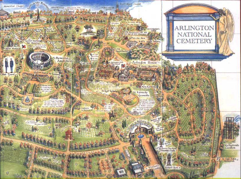 Arlington National Cemetery Map Arlington National Cemetary - Arlington cemetery on us map