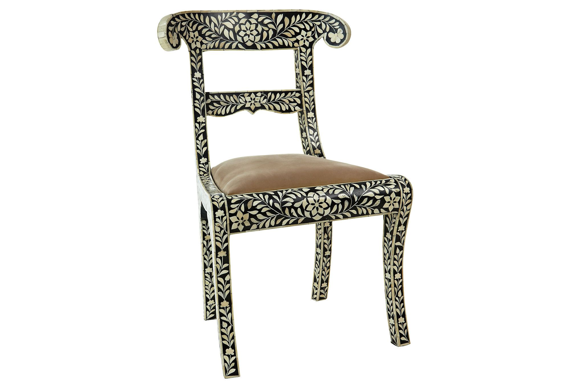 One Kings Lane Chairs Covers For Ikea Harry Chair Exotic Winter Escape Bone Inlaid
