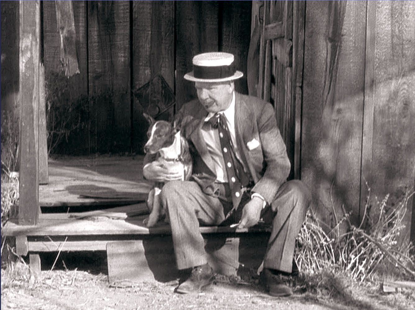 Wc Fields And His Dog In A Screencap From It S A Gift 1934 Historical Figures Art Weird