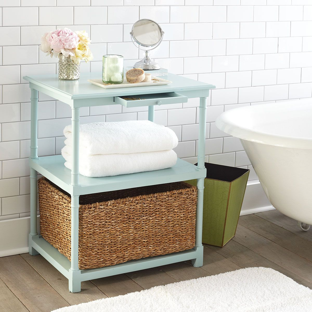 Colonial Column Side Table Bathroom Small