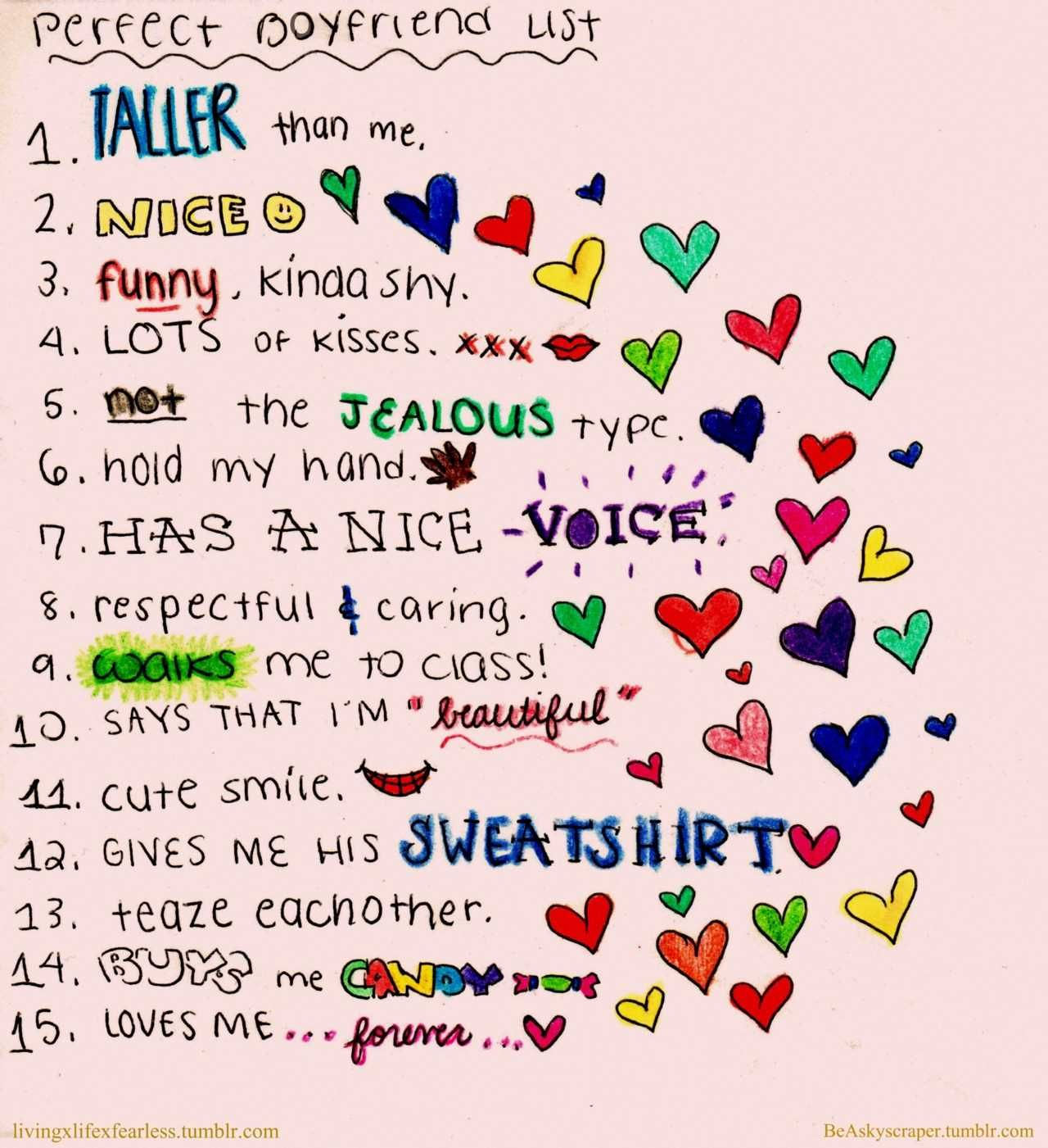 Life Love Quotes Perfect Boyfriend List Taller Than | ♥ PIC