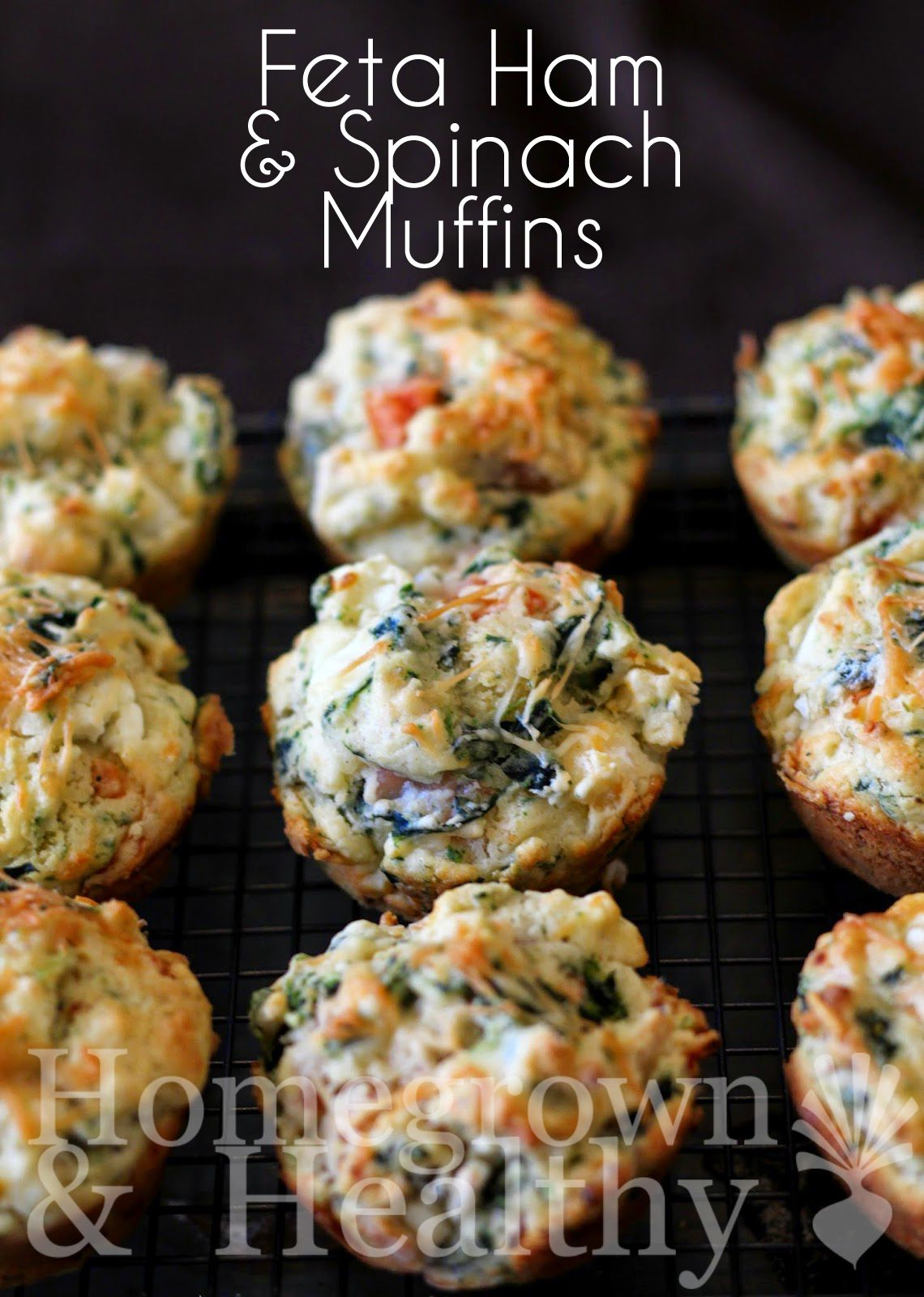 FETA SPINACH AND HAM MUFFINS - Homegrown & Healthy