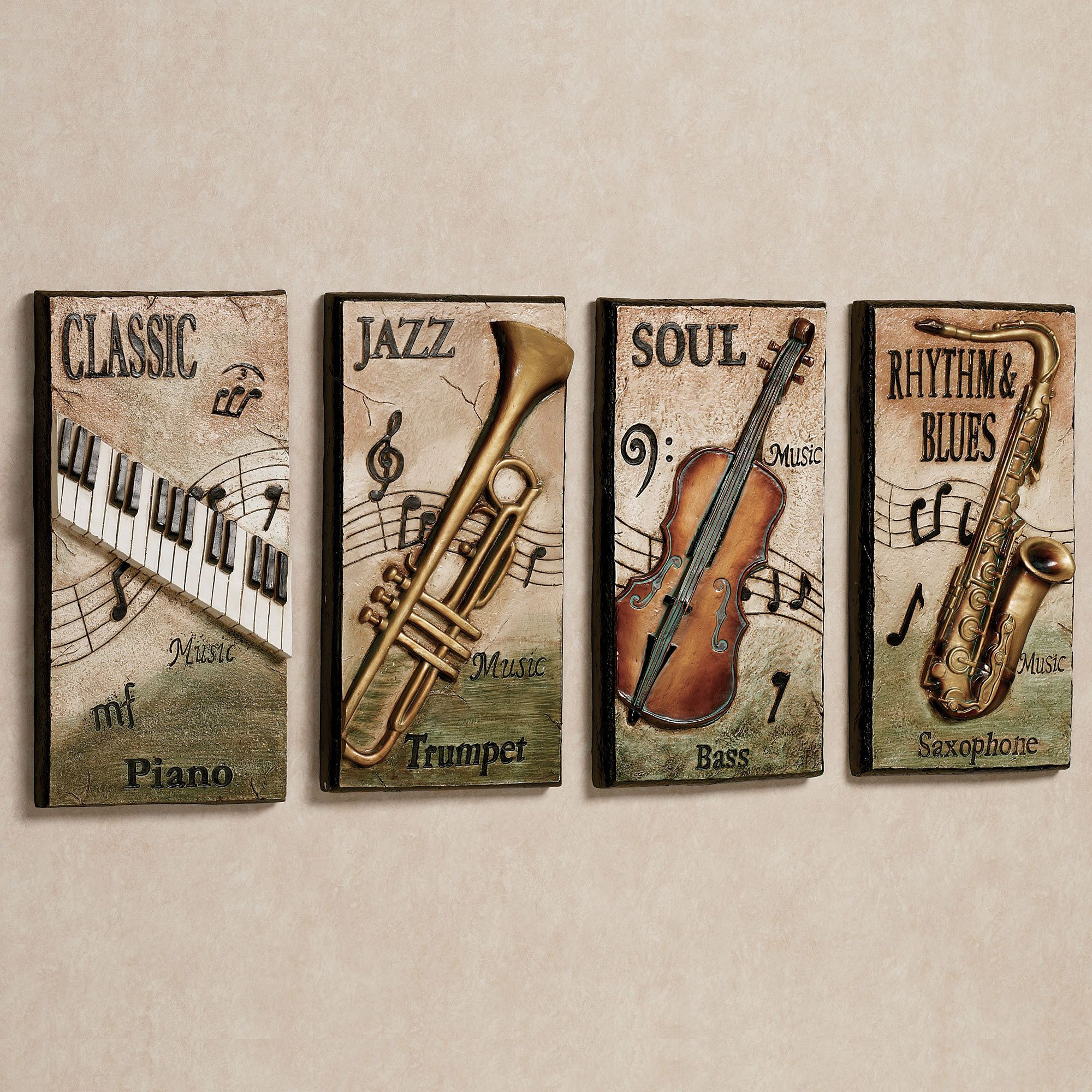 Blues Wall Plaque Decor Music Themed Rooms Pinterest