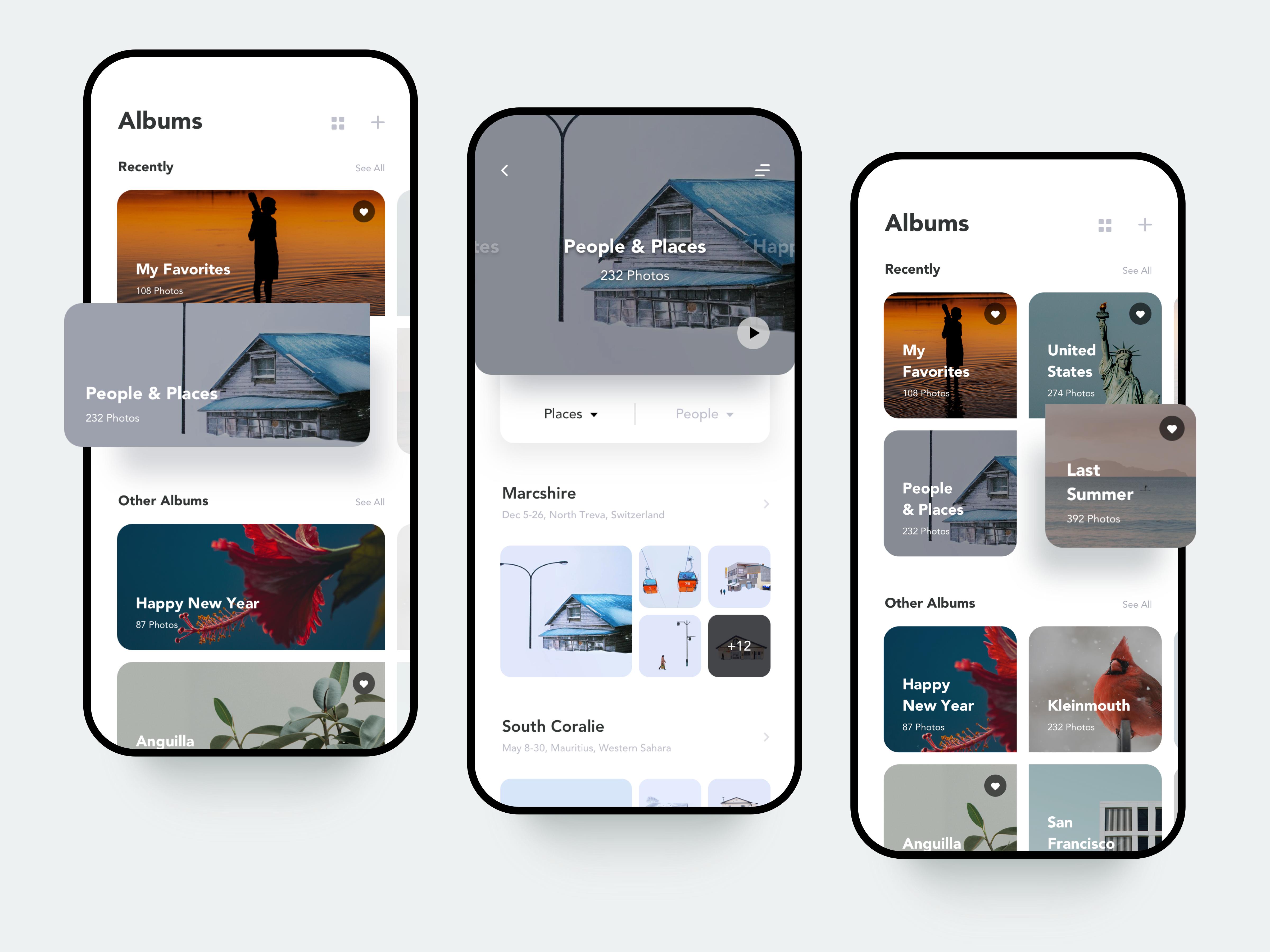 Recent Photo Album Page Concept App Store Design Mobile App Design Inspiration App Design Inspiration