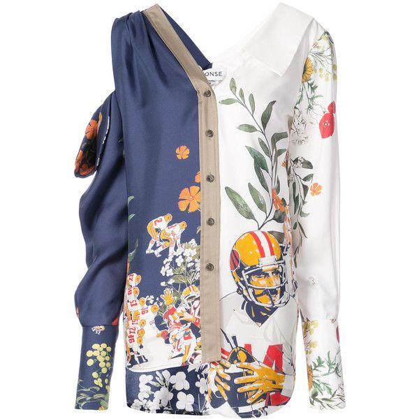 1742d0f9f23bb Monse floral asymmetric shirt ( 1