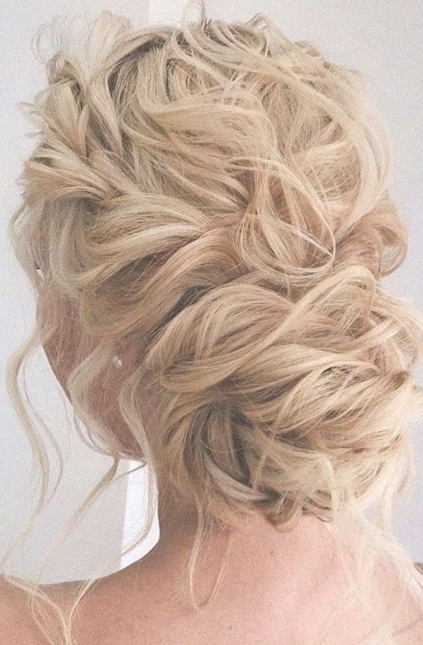 44 Messy Updo Hairstyles The Most Romantic Updo To Get An Elegant Look Thick Hair Styles Medium Length Hair Styles Curly Hair Styles