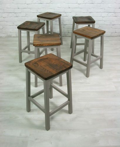 Kitchen Island Table And Chairs: VINTAGE INDUSTRIAL F SCHOOL LAB KITCHEN ISLAND TABLE & 6 STOOLS CAFE SHOP