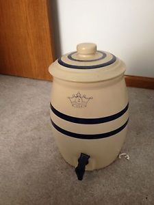 Vintage Blue Crown Usa 2 Gallon Stoneware Water Cooler Crock With Lid And Spout Water Coolers Stoneware Crock