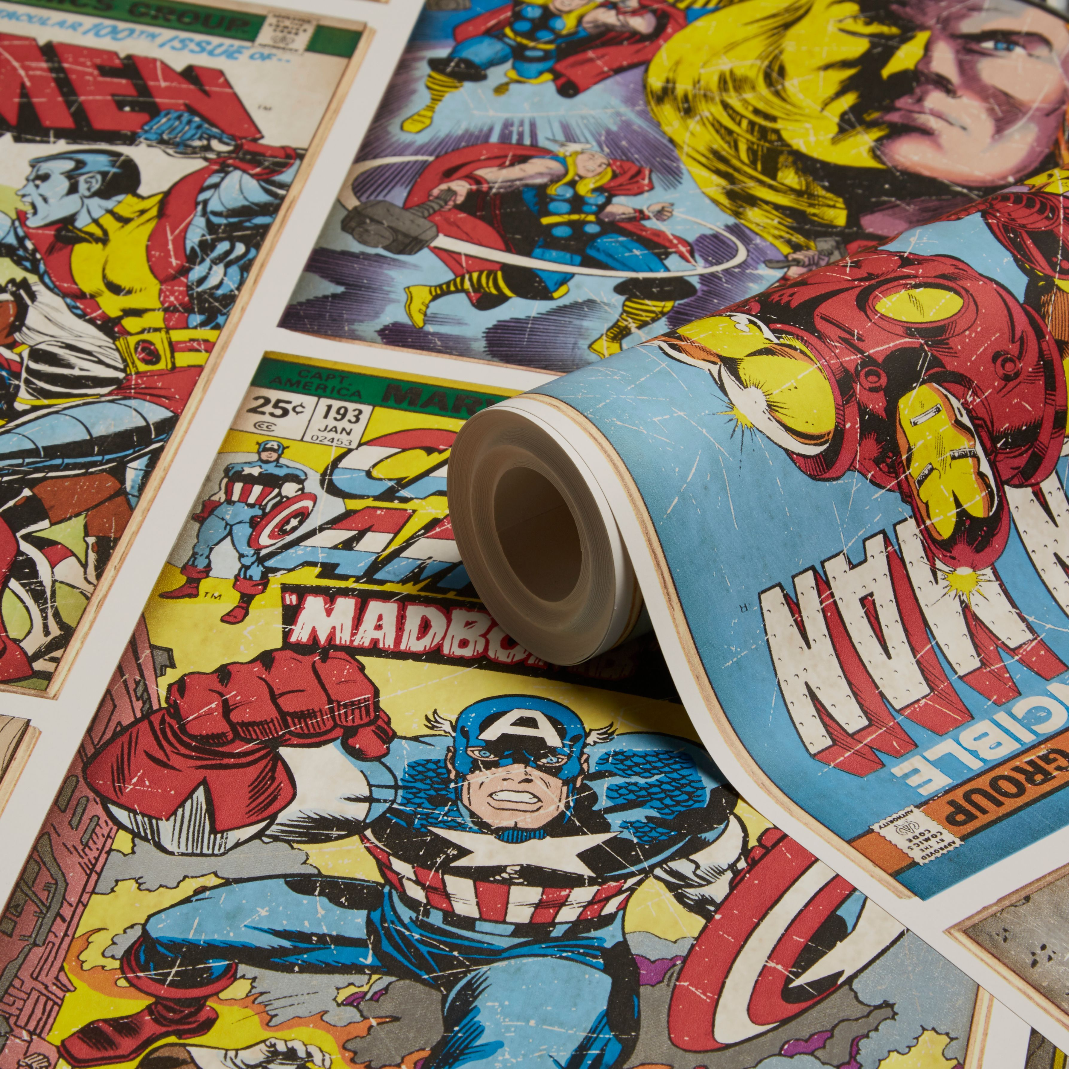 Graham Brown Marvel Action Heroes Wallpaper B Q For All Your Home And Garden Supplies And Advice On All T Superhero Wallpaper Kids Wallpaper Hero Wallpaper