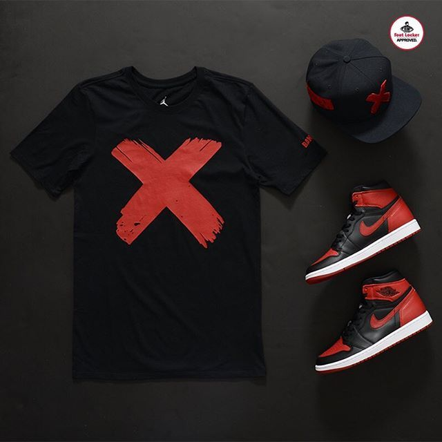 Websta Footlocker The Jordan Banned Collection Banned Logo Tee X Hat Hype Clothing Streetwear Fashion Latest Mens Fashion
