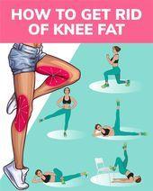 Wie man Kniefett mit effektiven Übungen zu Hause los wird   - Fitness - #effektiven #Fitness #Hause...