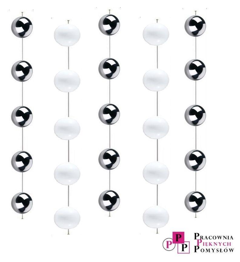 Kule Dekoracyjne Wiszące 5 Szt Białe 10120cm Shinning Balls