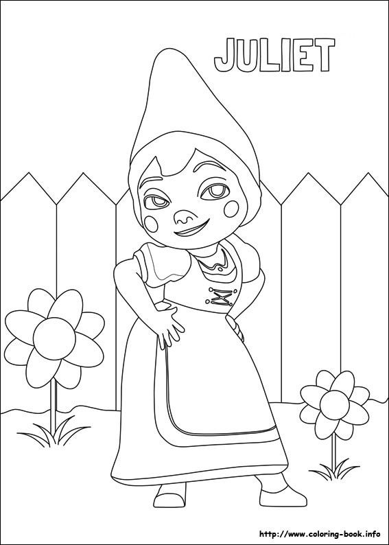Gnomeo Juliet Printable Coloring Pages For The Kiddies Free Romeo And Juliet Coloring Pages
