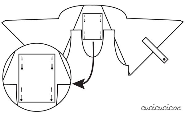 Free PDF sewing pattern diagram | www.cucicucicoo.com