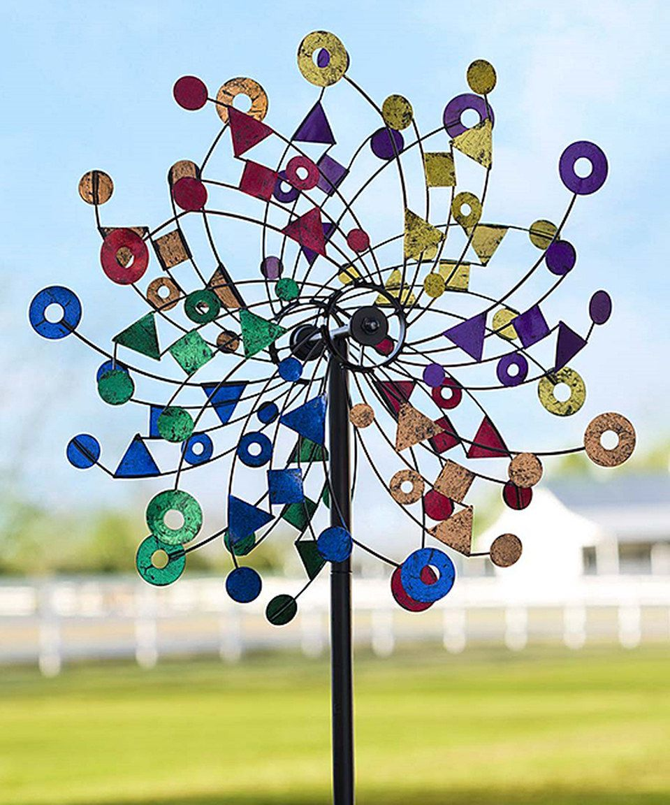Love This Geometric Wind Spinner Garden Stake By Plow