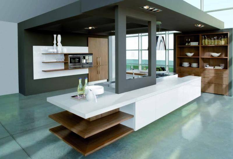 modern design - white, black, wood Modern Kitchen Design Pinterest - cocinas italianas